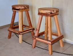 Backless Counter Stool Leather Backless Wooden Bar Stool Custom Made Redwood Stools
