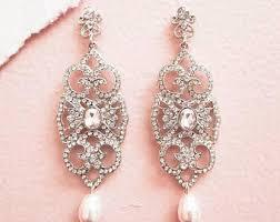 Chandelier Pearl Earrings For Wedding Art Deco Bridal Jewellery Designs Vintage By Sukrankirtisjewelry
