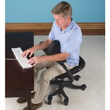 Office Chair Front The Optimal Posture Office Chair Hammacher Schlemmer