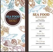 seafood menu template various marine species icons decor free