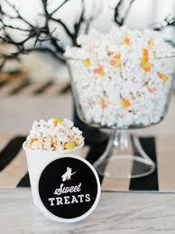 halloween sweet and salty popcorn mix recipe hgtv