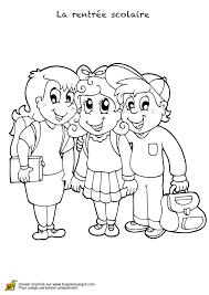 coloriage la rentrée scolaire meilleurs amis