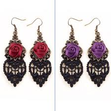 black dangle earrings aliexpress buy retro handmade purple