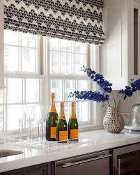 Roman Shades For Kitchen Contemporary Roman Shades Kitchen In New England With Decorating Ideas