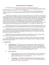 Doc 575709 Business Contract Template Business Associates Agreement Template Virtren Com