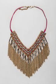 beaded red necklace images Nomads clothing beaded fringe necklace jpg
