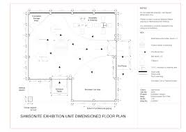 floor plan and one point perspective line drawing hand rendered 1