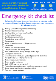Household Items Checklist by Be Ready Cairns Cairns Regional Council