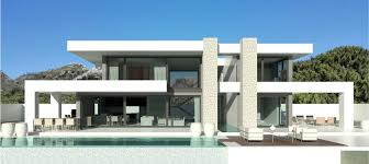 villa design cool 3d modern exterior villa design 2013