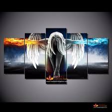 Canvas Home Decor Hd Canvas Prints Modern Abstract Art Angeles Girls Anime Demons