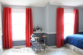 Creative Window Treatments by The Creative Imperative Tarps As Window Treatments