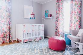 Green Curtains For Nursery Curtain Pink And Green Curtains Nursery Menzilperde Net Cheerful