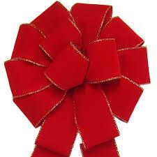 velvet bows big velvet bows large wired gold edged bright