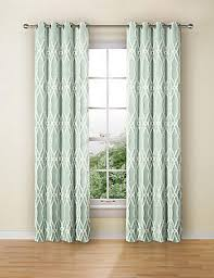 Teal Patterned Curtains Patterned Curtains Patterned Ready Made Eyelet Curtain M U0026s
