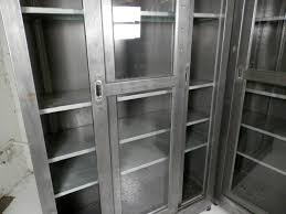 Bookcases With Sliding Glass Doors Single Industrial Metal Cabinet W Sliding Glass Doors At 1stdibs