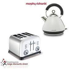 Morphy Richards Toaster White Tefal Electrical Inox Toaster Black Silver 4 Slices My Dream