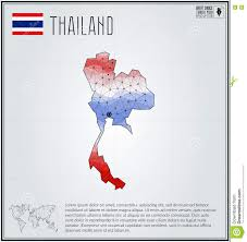 Thailand Map In World Map by Thailand Map In Geometric Polygonal Style Polygonal Abstract
