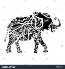 doodle indian indian elephant doodle indian stock illustration