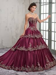 burgundy quince dresses strapless satin quinceanera dress by s bridal m4q2001 abc