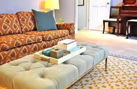 coffee table cushion ottoman coffee table upholstered t leather