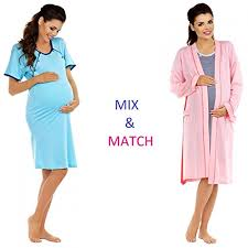 robe de chambre maternité zeta ville maternité robe de chambre chemise de nuit mélangez et
