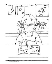 Coloring Page Of A School School Coloring Page 005 by Coloring Page Of A School