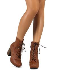 s qupid boots qupid sotto 01 leatherette almond toe block heel lace up