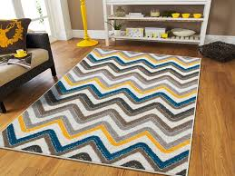 Yellow And Grey Outdoor Rug New Fashion Zigzag Style Large Area Rugs 8x11