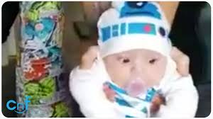 r2d2 halloween costumes baby in r2d2 costume i am your father youtube