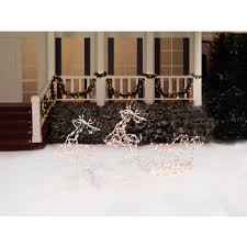 Outdoor Christmas Decorations Huskies by Lighted Deer Christmas Christmas Lights Decoration