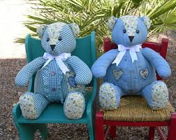 remembrance teddy bears memory bears etsy