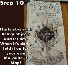 Make Your Own Map Harry Potter Paraphernalia Marauder U0027s Map Inside And Outside