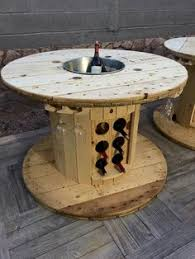 outdoor tables made out of wooden wire spools cool pretty spool table backyard stuff pinterest patios
