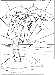 sunset coloring pages nature printable coloring pages coloringzoom