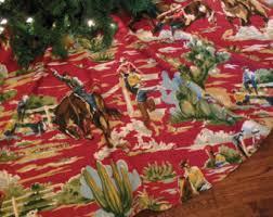 themed tree skirts western cowboy christmas tree skirt rodeo christmas western
