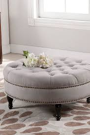 coffee table grey ottoman coffee table large round tufted fab