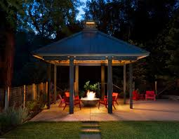 Fire Pit Gazebo by Covered Fire Pit Ideas Patio Transitional With Gas Fire Pit Red