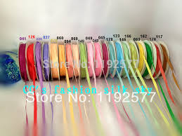 silk satin ribbon 4mm different color 100 silk grosgrain ribbon embroidery