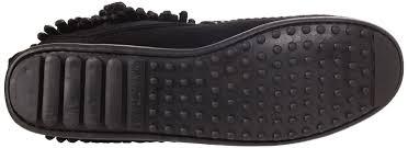 womens boots size 12 5 minnetonka fringe side zip boot womens boots black schwarz