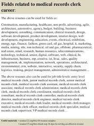 Resume For Medical Records Medical Registration Clerk Cover Letter
