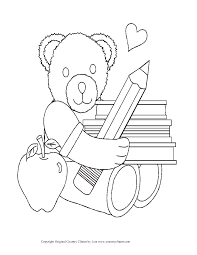 first day of coloring pages for kindergarten with page