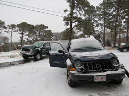 crashed jeep liberty one injured in two vehicle crash in harwich