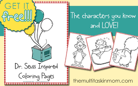 free dr seuss inspired color pages the multi taskin u0027 mom