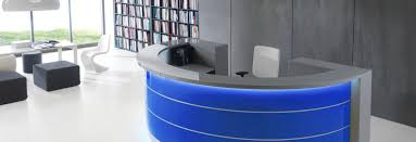bureau reception valde blue reception desk by mdd mdd