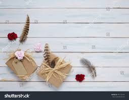 raffia bows presents wrapped brown parcel paper raffia stock photo 441776143