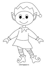elf coloring page fablesfromthefriends com