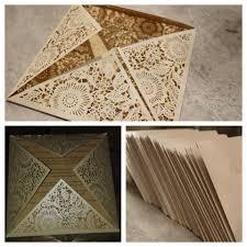 laser cut wood invitations affordable pearl white floral laser cut wedding invitations
