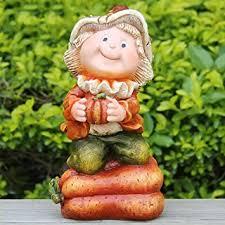 garden gnome with squash quality polyresin resin souvenir