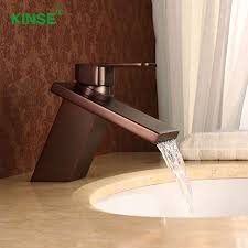 Bathroom Waterfall Faucet with Aliexpress Com Buy Kinse Contemporary Orb Finish Single Holder
