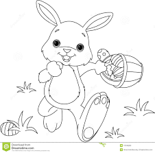 easter bunny coloring page royalty free stock photography image
